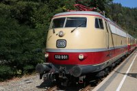 E 03 001 des DB Museum am 16.September 2018 im Bf Triberg (T.Horn)